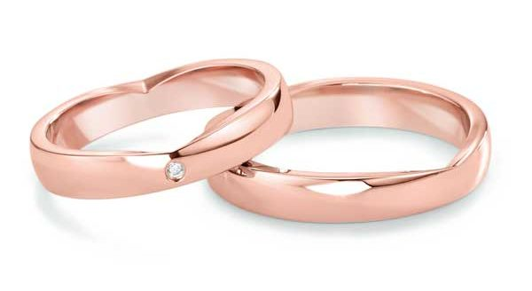 Ringe Secret Heart, Roségold.