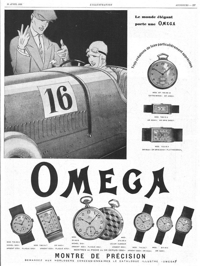 Omega 1929, collection MIH